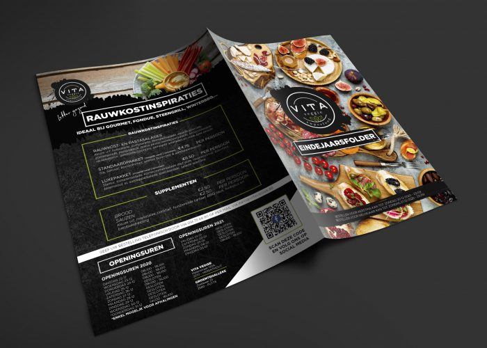 A4 Brochure Mockup Eindejaarsfolder