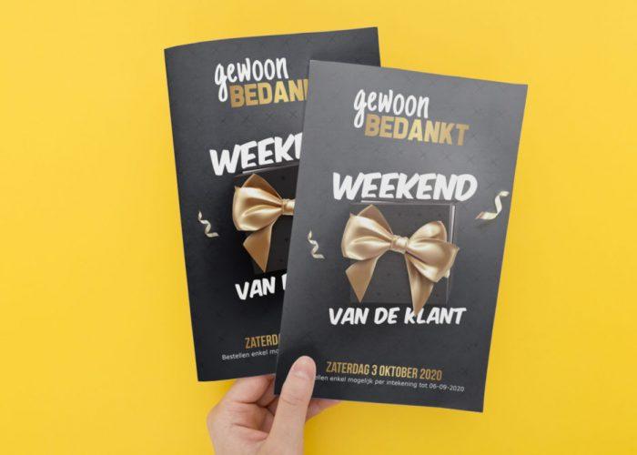 Brochure, Weekend van de klant