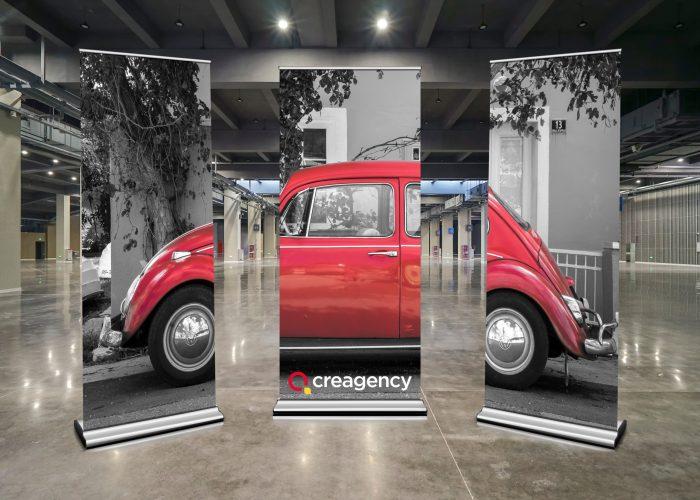 Roll Up Mockup - Volkswagen Beetle Creagency